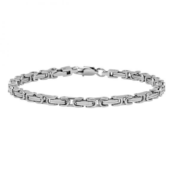 Stainless Steel 4 2mm Square Byzantine Bracelet 8 5